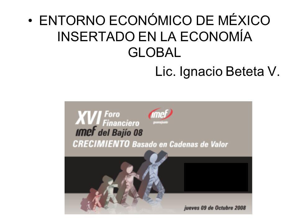 ENTORNO ECONÓMICO DE MÉXICO INSERTADO EN LA ECONOMÍA GLOBAL
