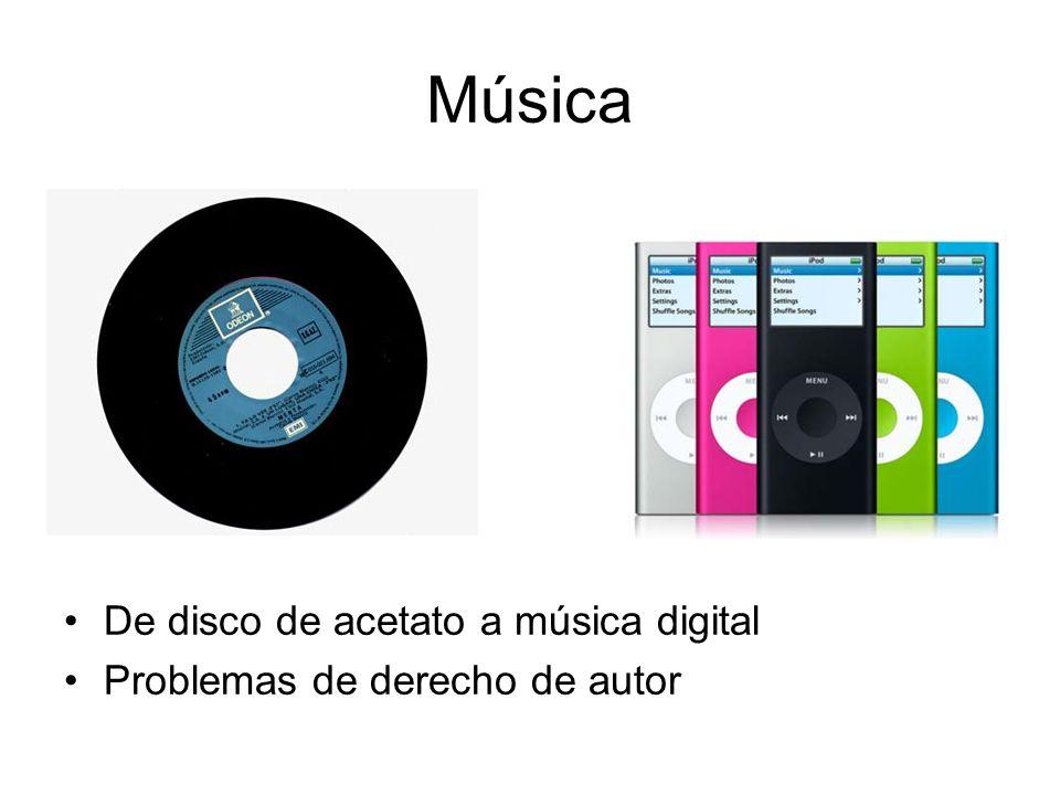 Música De disco de acetato a música digital