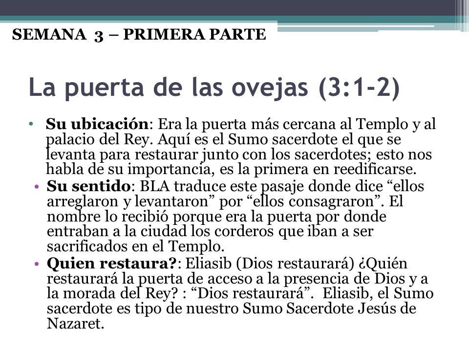 La puerta de las ovejas (3:1-2)