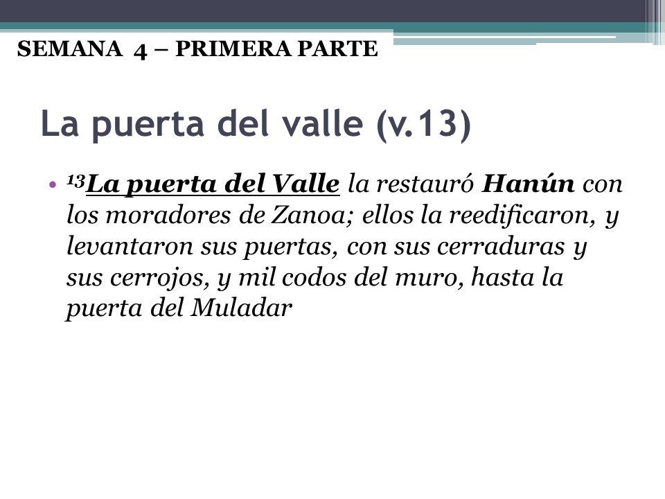 SEMANA 4 – PRIMERA PARTE La puerta del valle (v.13)