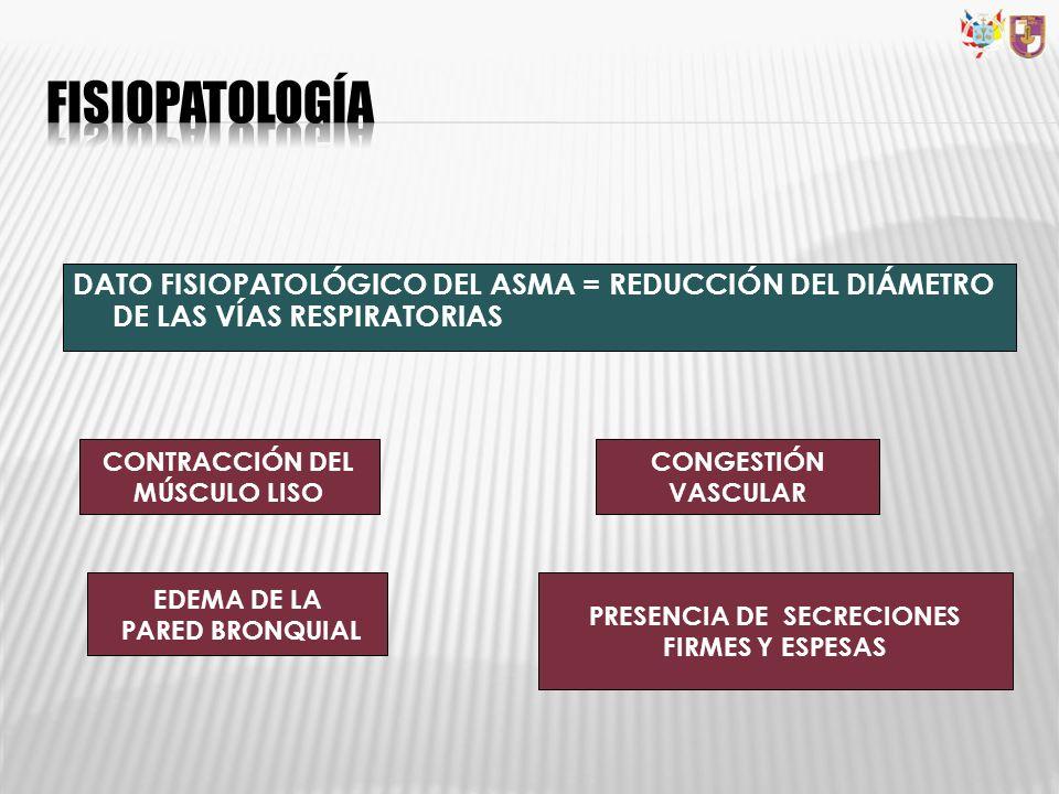 CONTRACCIÓN DEL MÚSCULO LISO PRESENCIA DE SECRECIONES