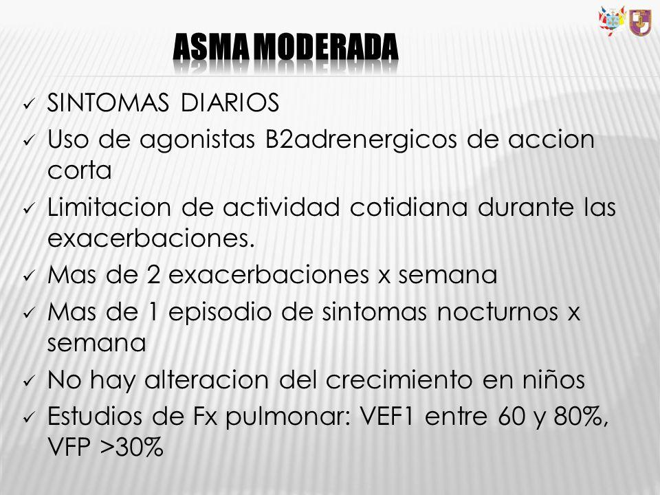 ASMA MODERADA SINTOMAS DIARIOS