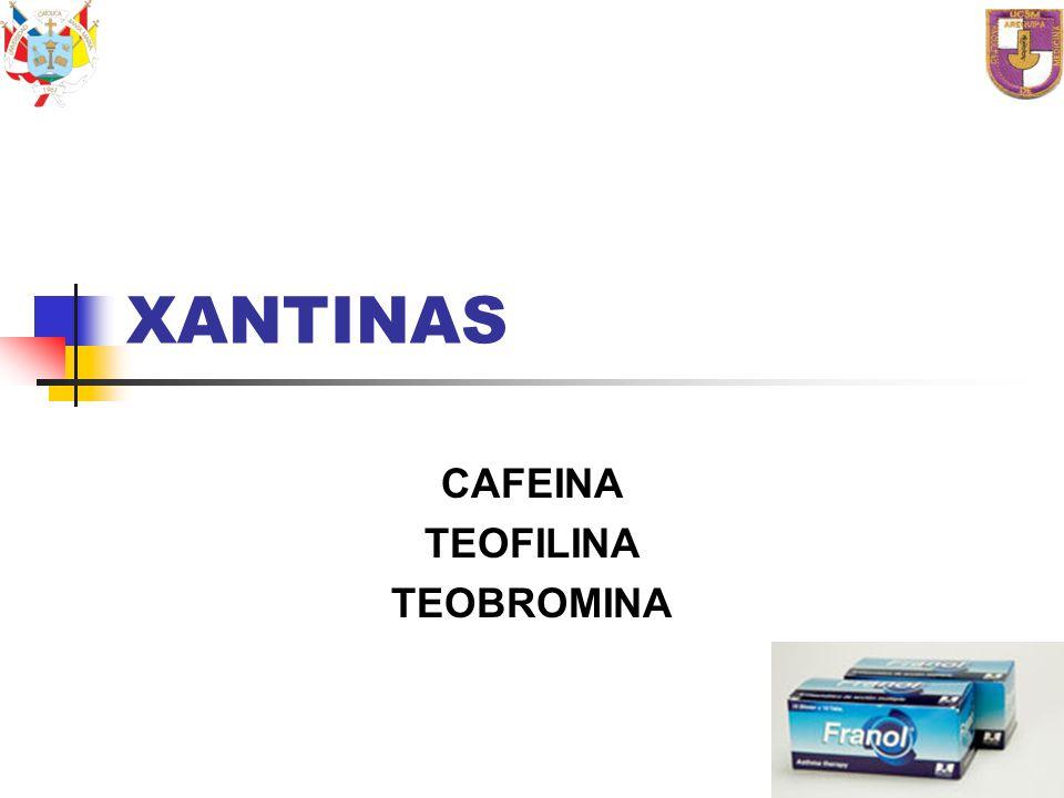 CAFEINA TEOFILINA TEOBROMINA
