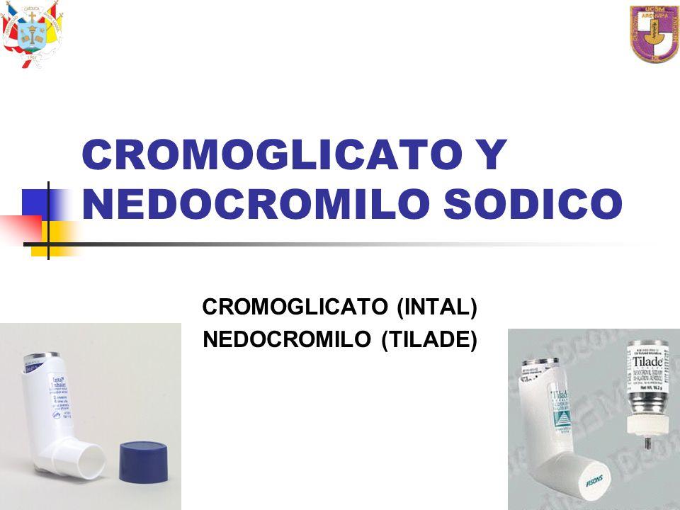 CROMOGLICATO Y NEDOCROMILO SODICO