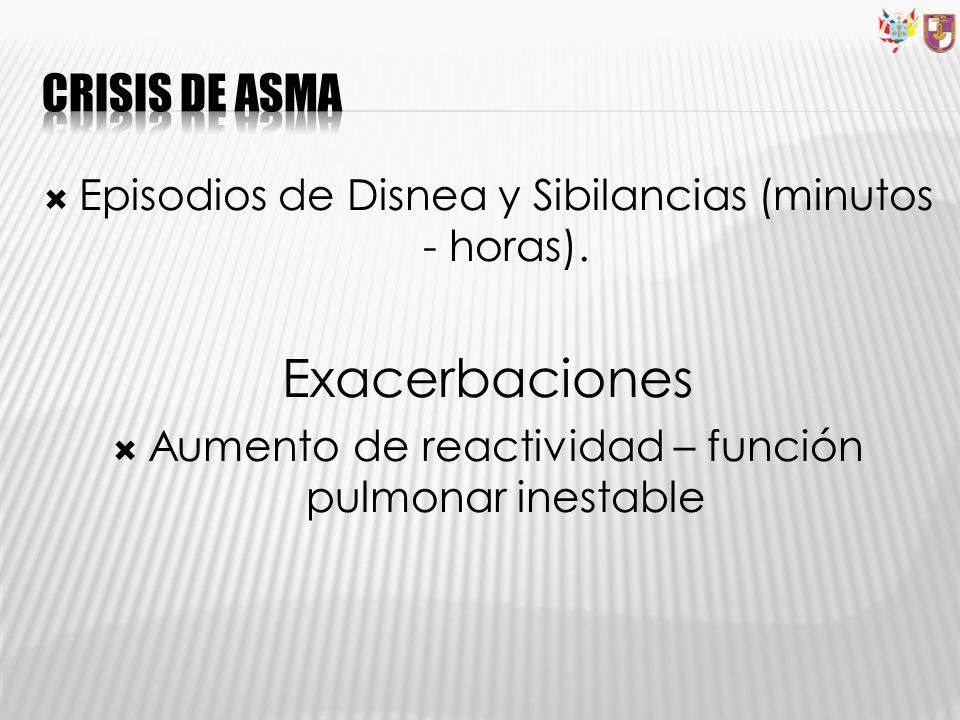 Exacerbaciones Crisis de asma