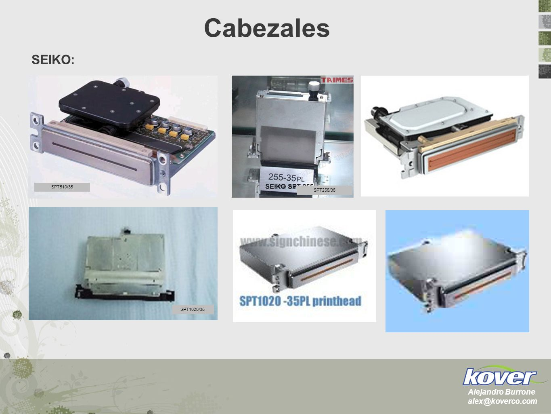 Cabezales SEIKO: Alejandro Burrone alex@koverco.com SPT510/35