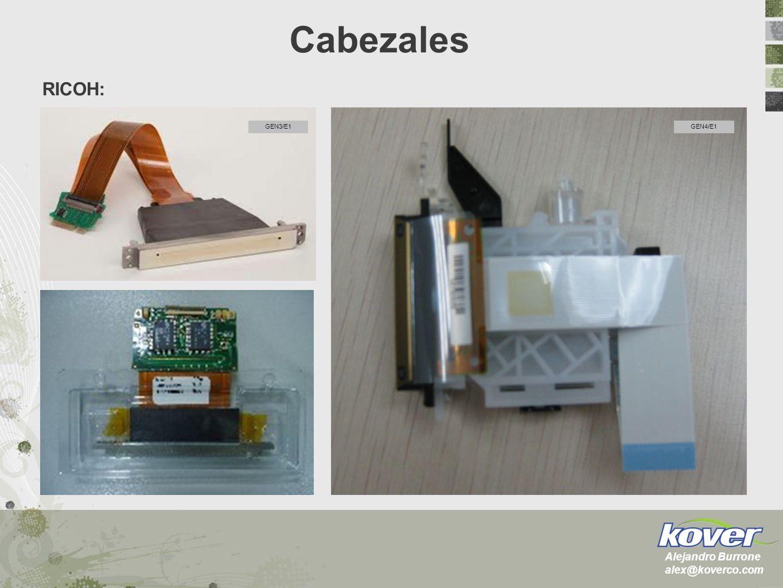 Cabezales RICOH: GEN3/E1 GEN4/E1 Alejandro Burrone alex@koverco.com