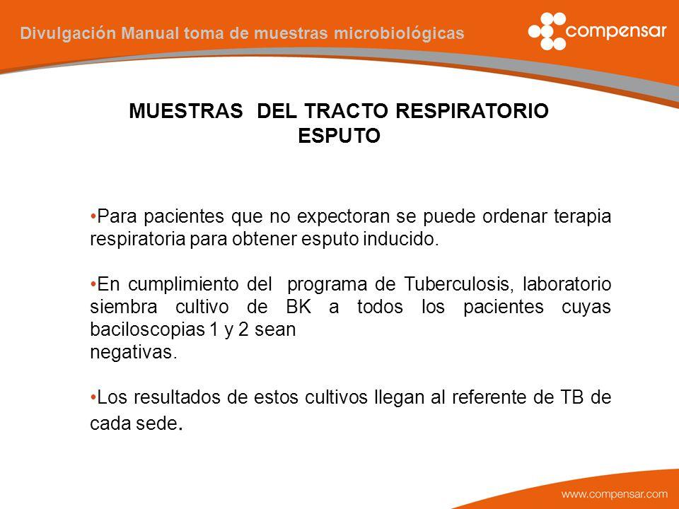 MANUAL TOMA DE MUESTRAS MICROBIOLÓGICAS. - ppt descargar