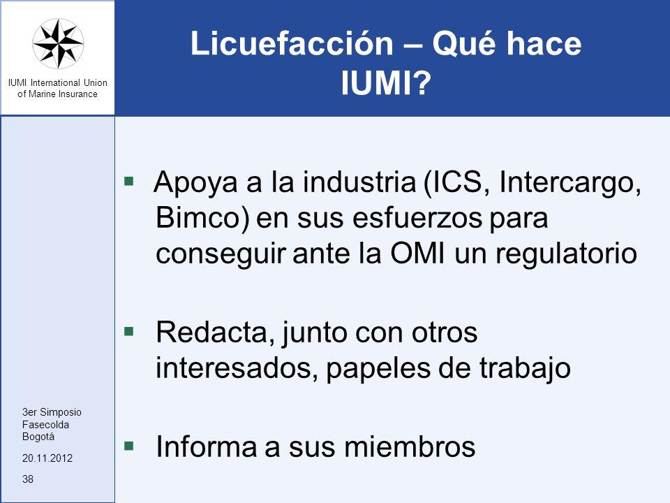 Licuefacción – Qué hace IUMI