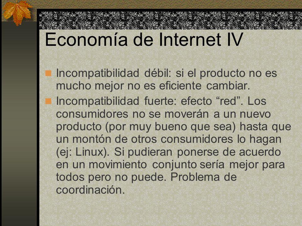 Economía de Internet IV