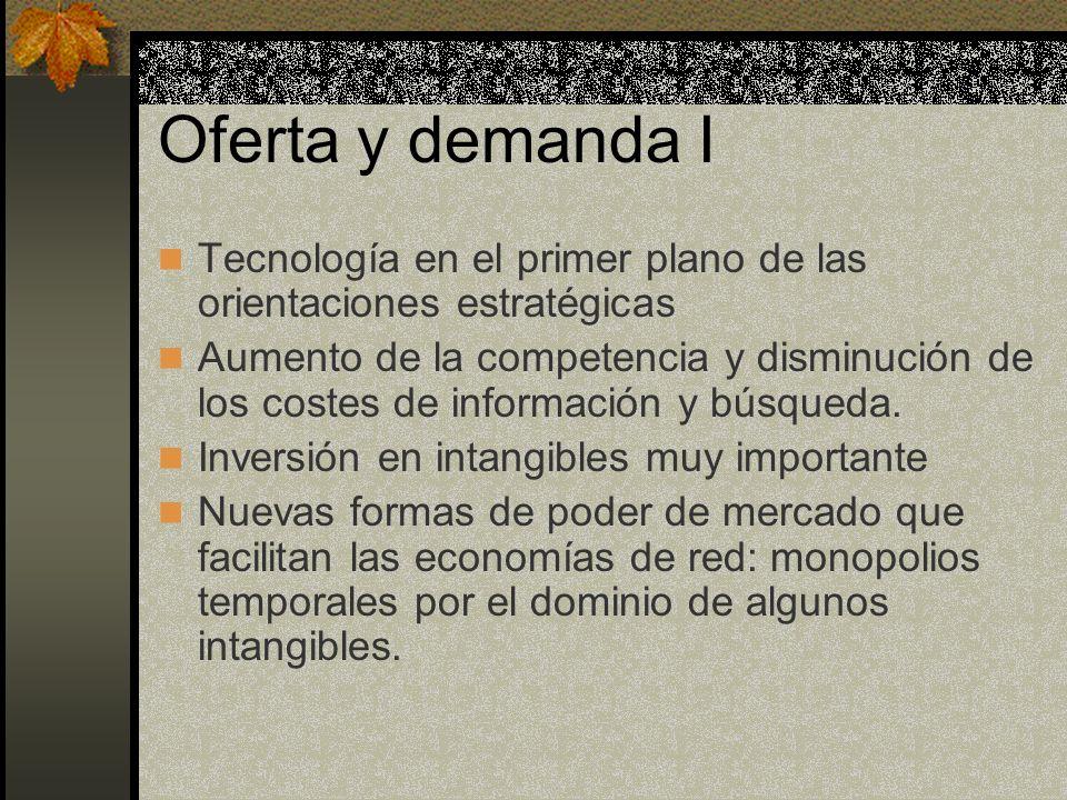 Oferta y demanda ITecnología en el primer plano de las orientaciones estratégicas.