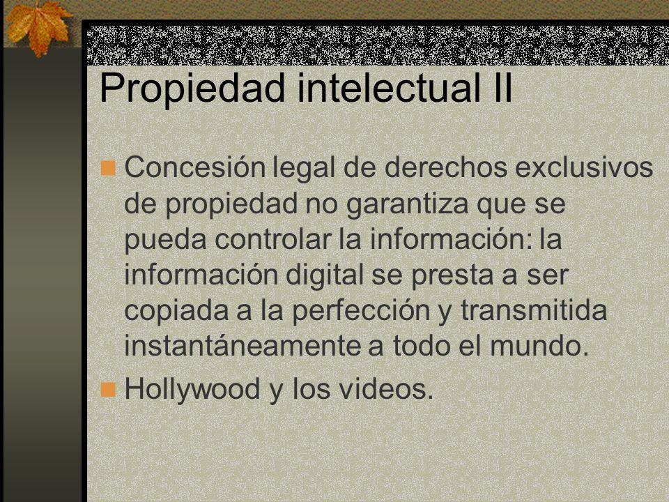 Propiedad intelectual II