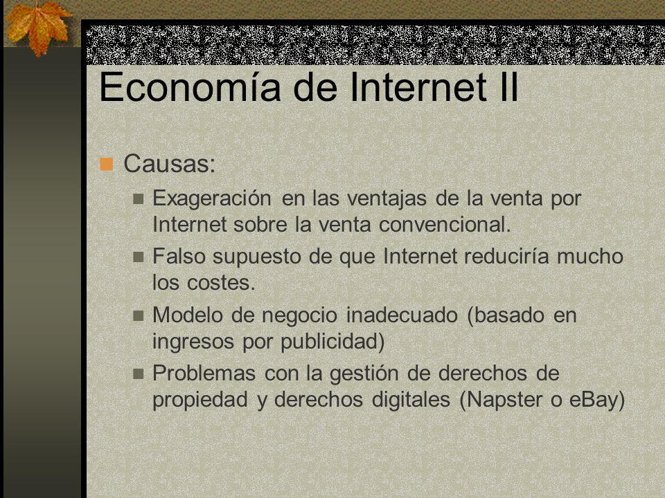 Economía de Internet II