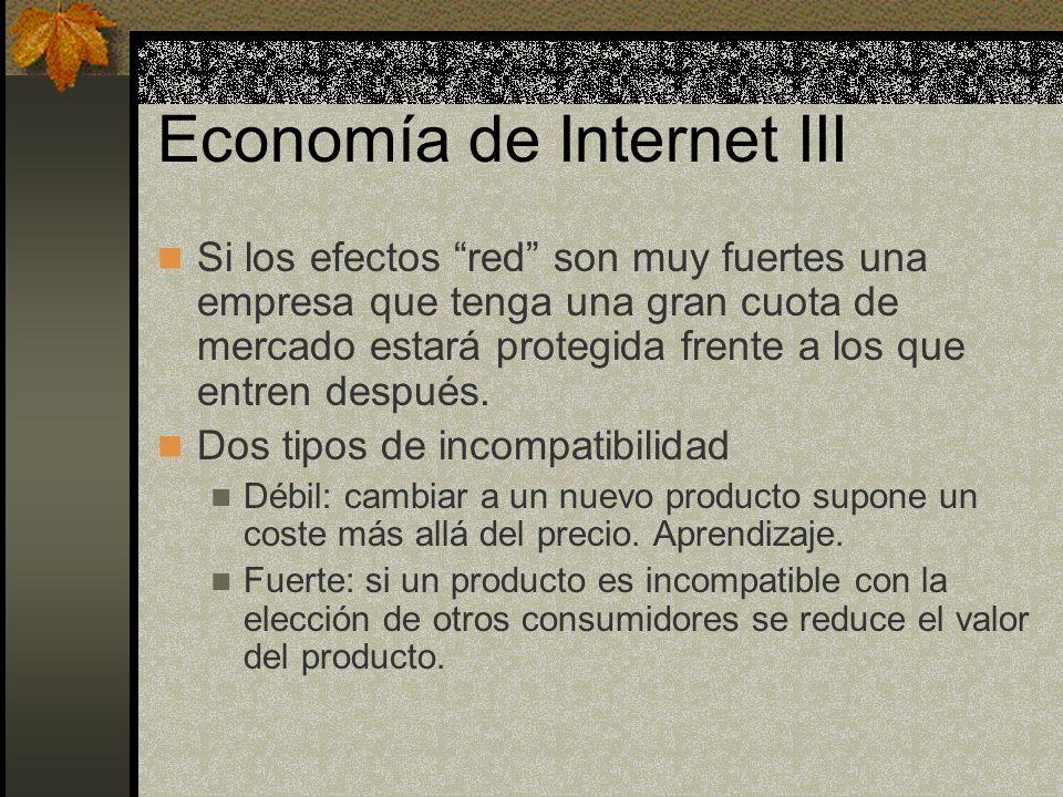 Economía de Internet III