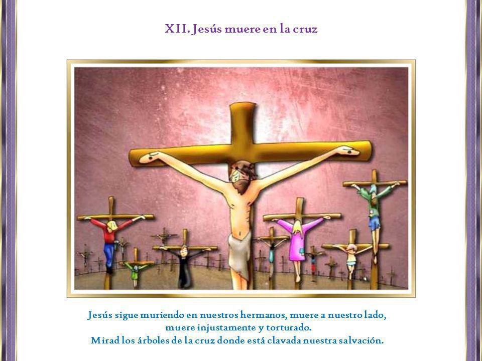 XII. Jesús muere en la cruz