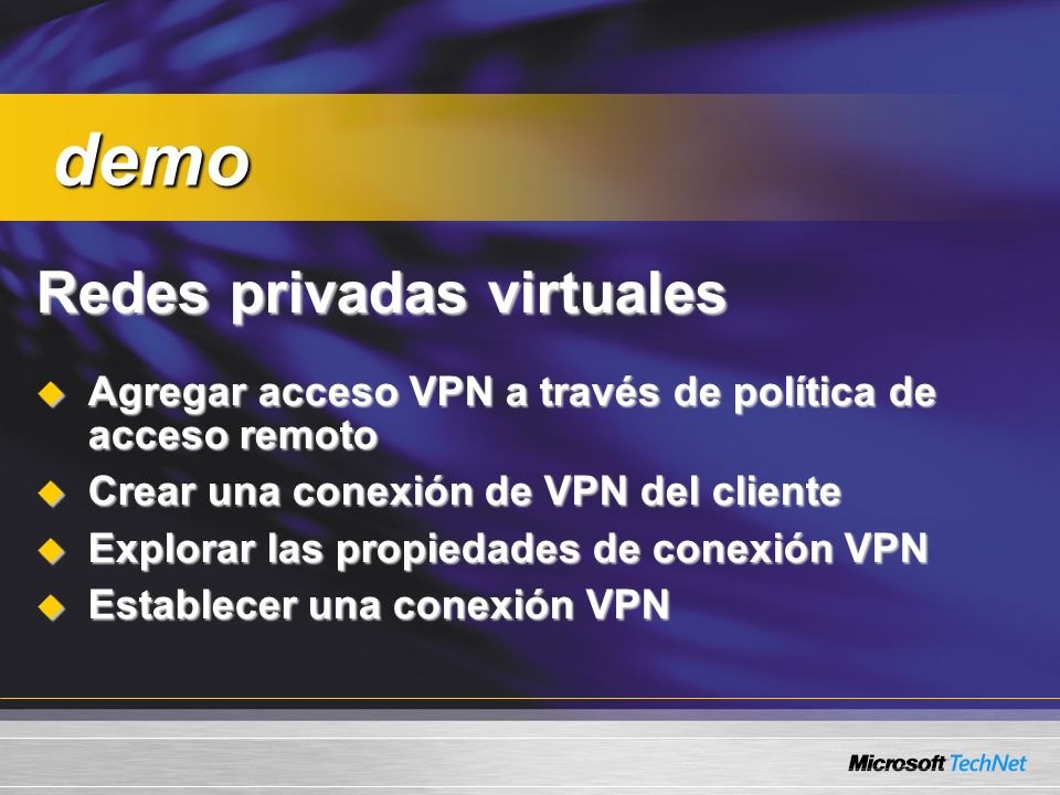 demo Redes privadas virtuales