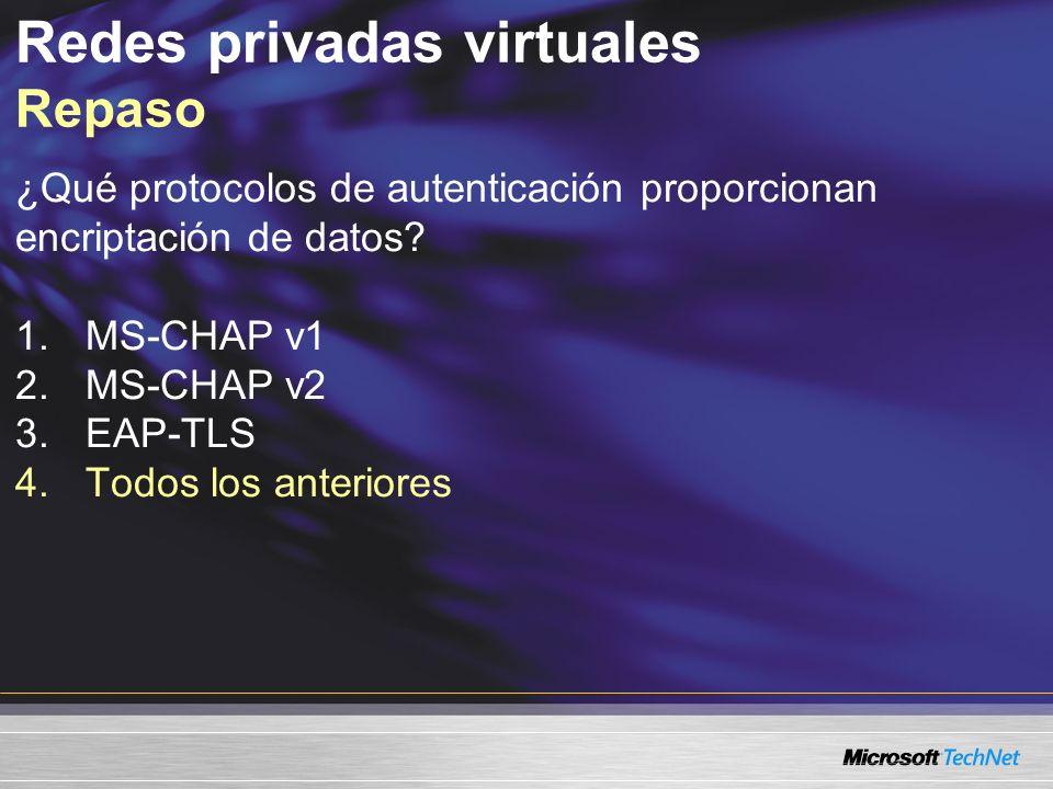 Redes privadas virtuales Repaso