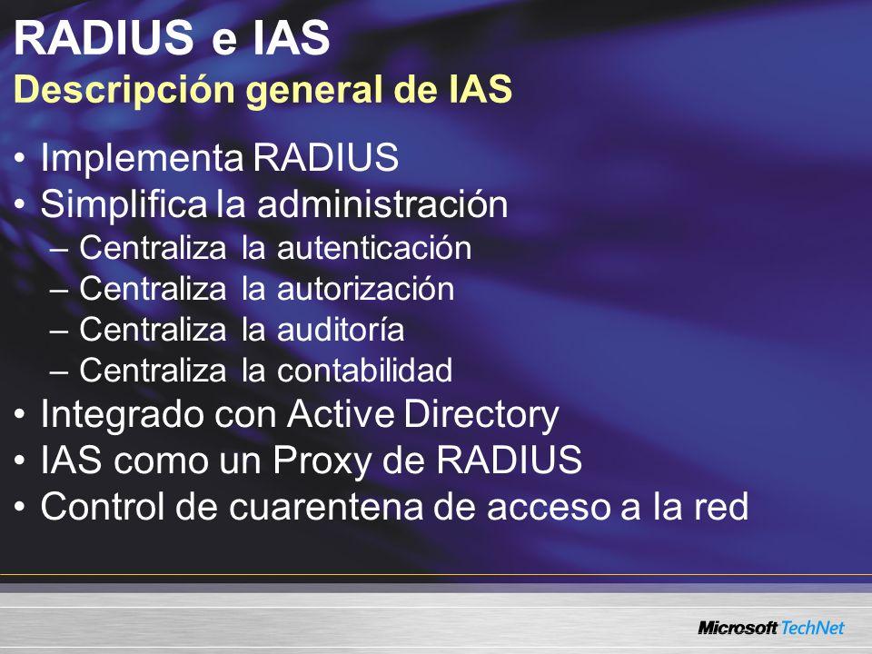 RADIUS e IAS Descripción general de IAS