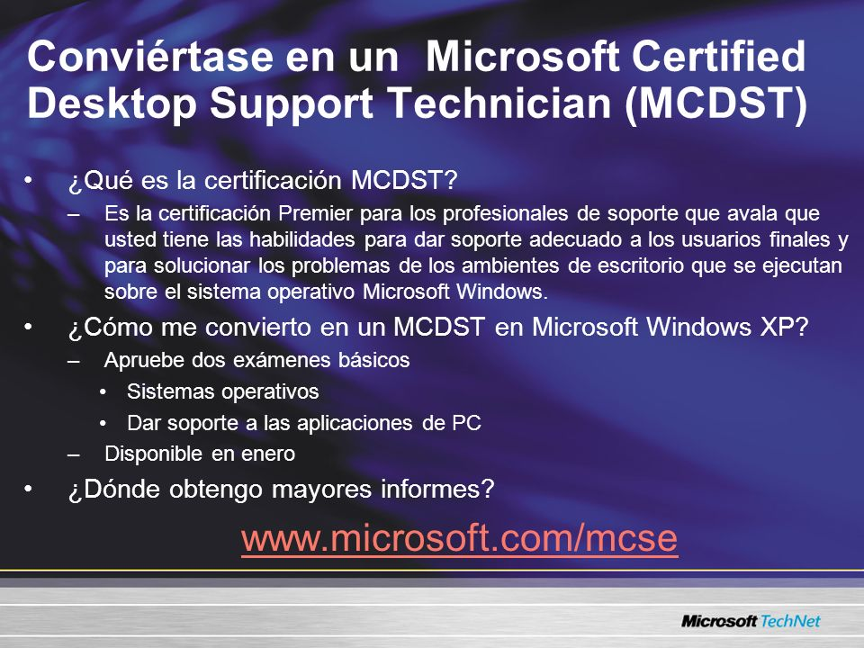 Conviértase en un Microsoft Certified Desktop Support Technician (MCDST)