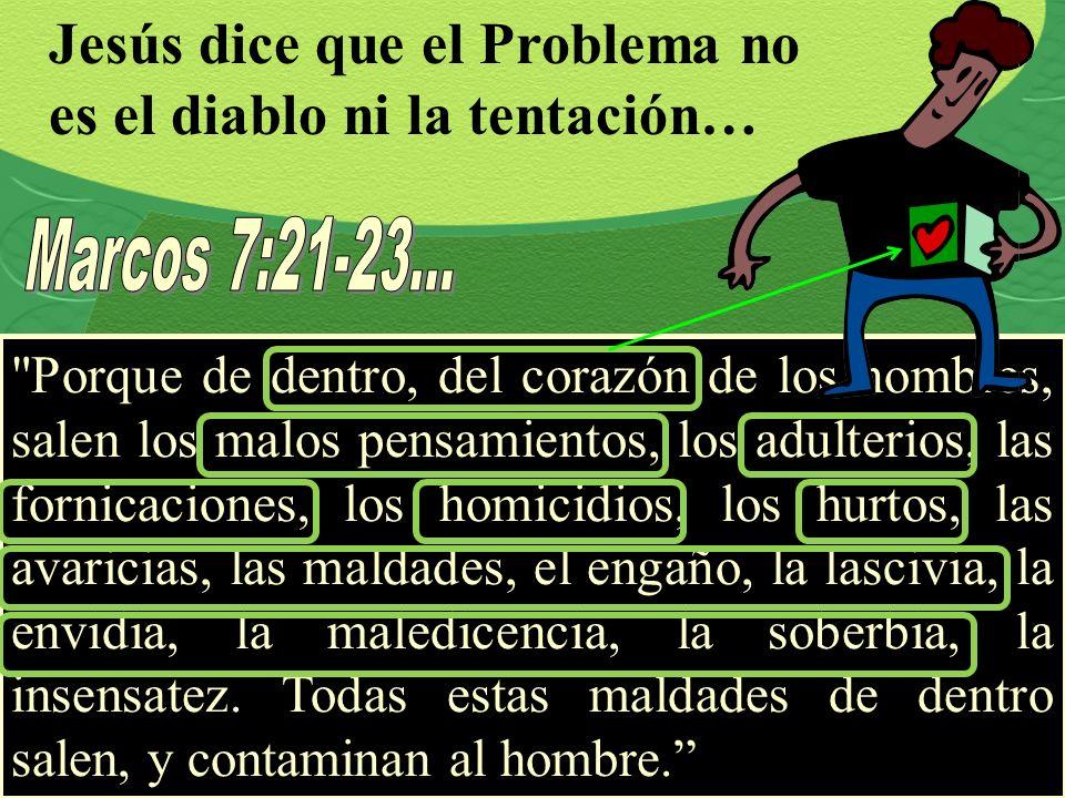 Jesús dice que el Problema no es el diablo ni la tentación…