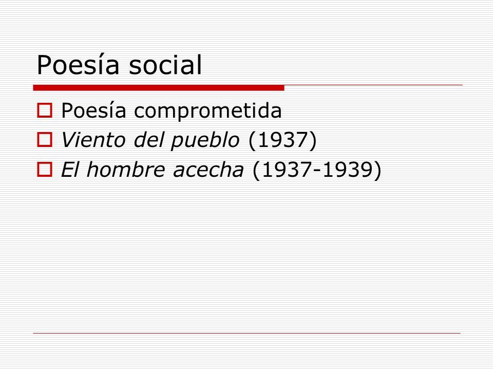 Poesía social Poesía comprometida Viento del pueblo (1937)