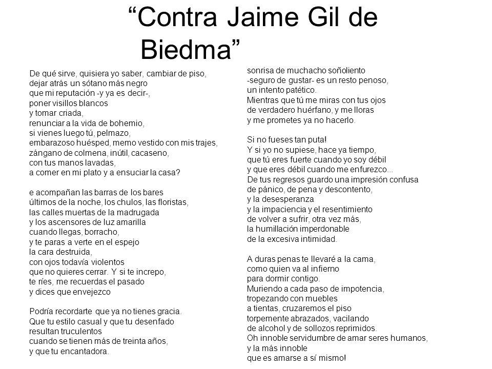 Contra Jaime Gil de Biedma