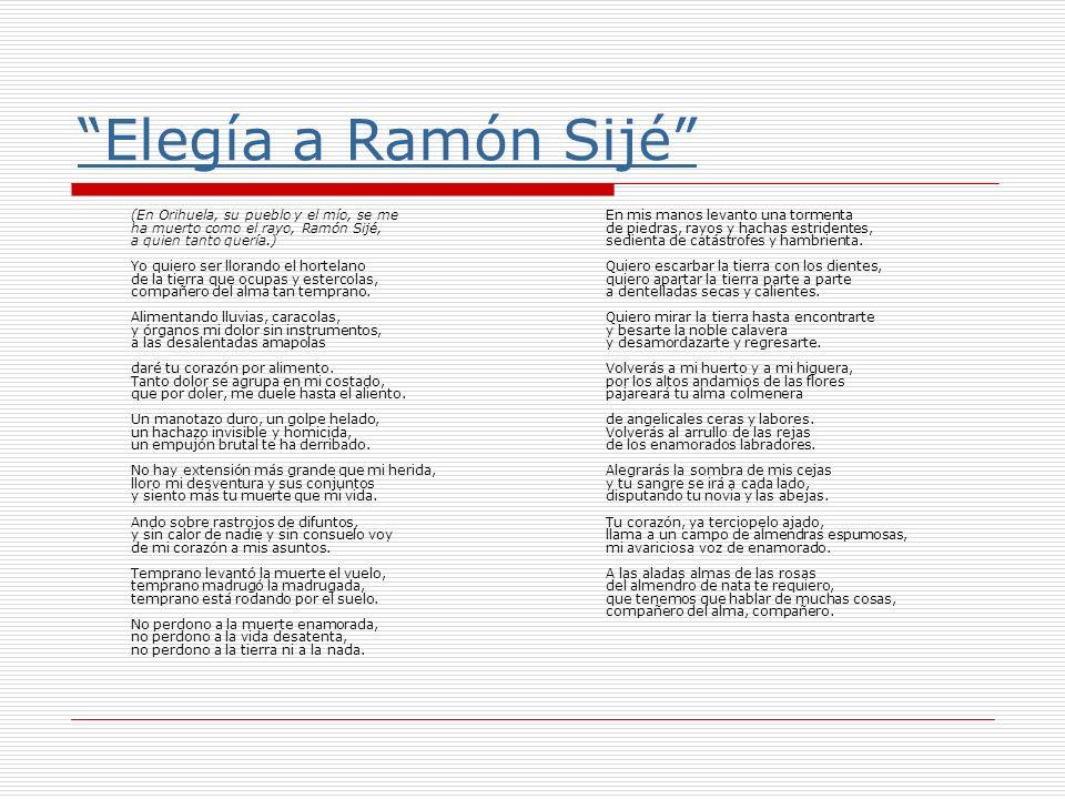 Elegía a Ramón Sijé