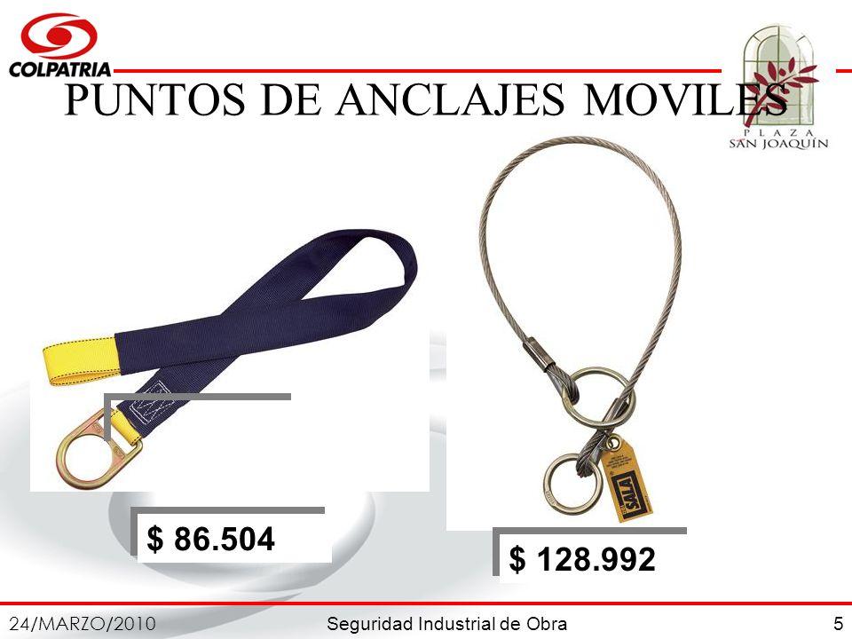 PUNTOS DE ANCLAJES MOVILES