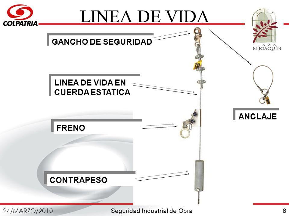 LINEA DE VIDA GANCHO DE SEGURIDAD LINEA DE VIDA EN CUERDA ESTATICA