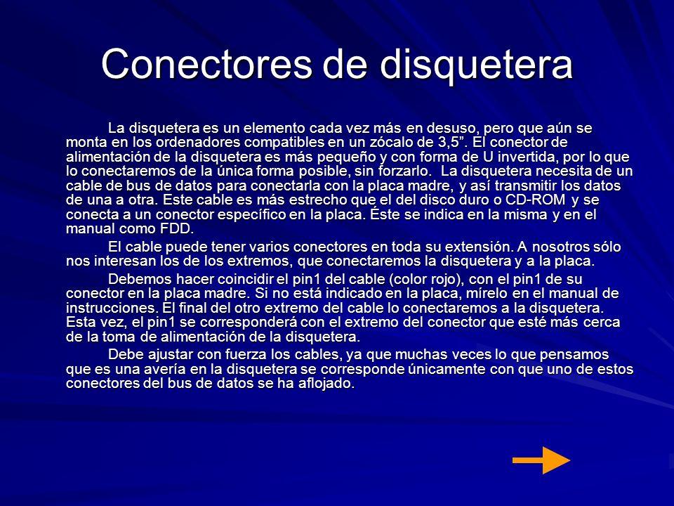 Conectores de disquetera