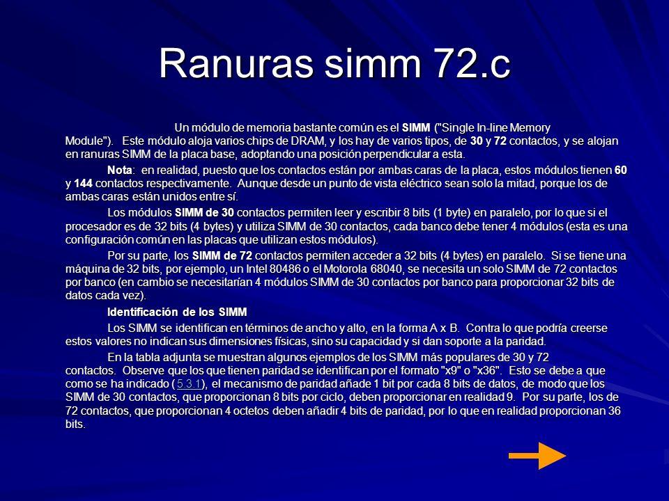 Ranuras simm 72.c