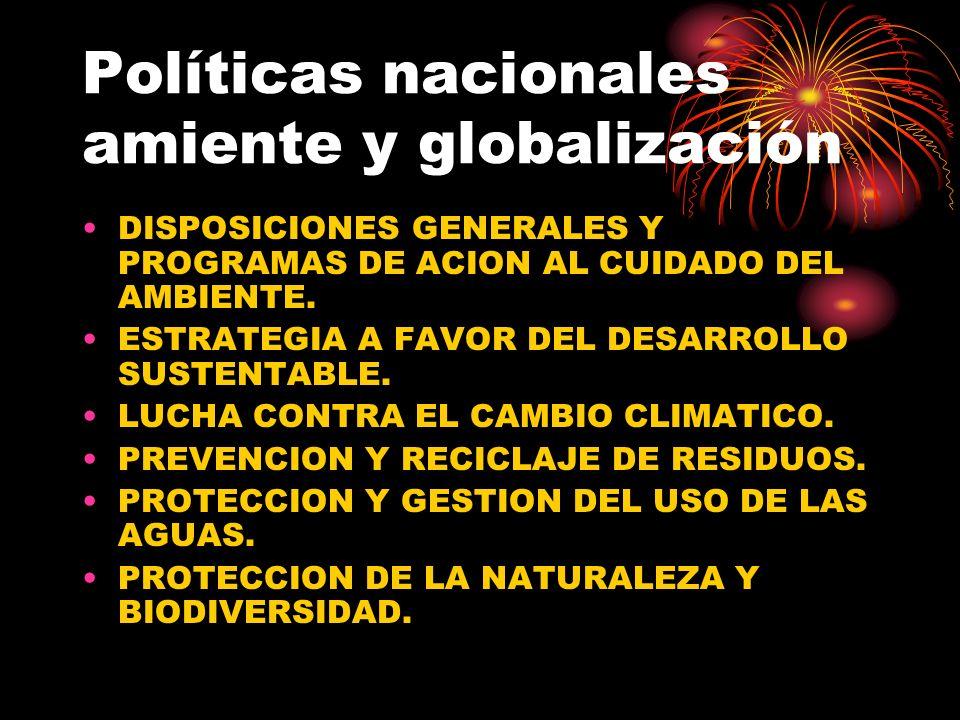 Políticas nacionales amiente y globalización