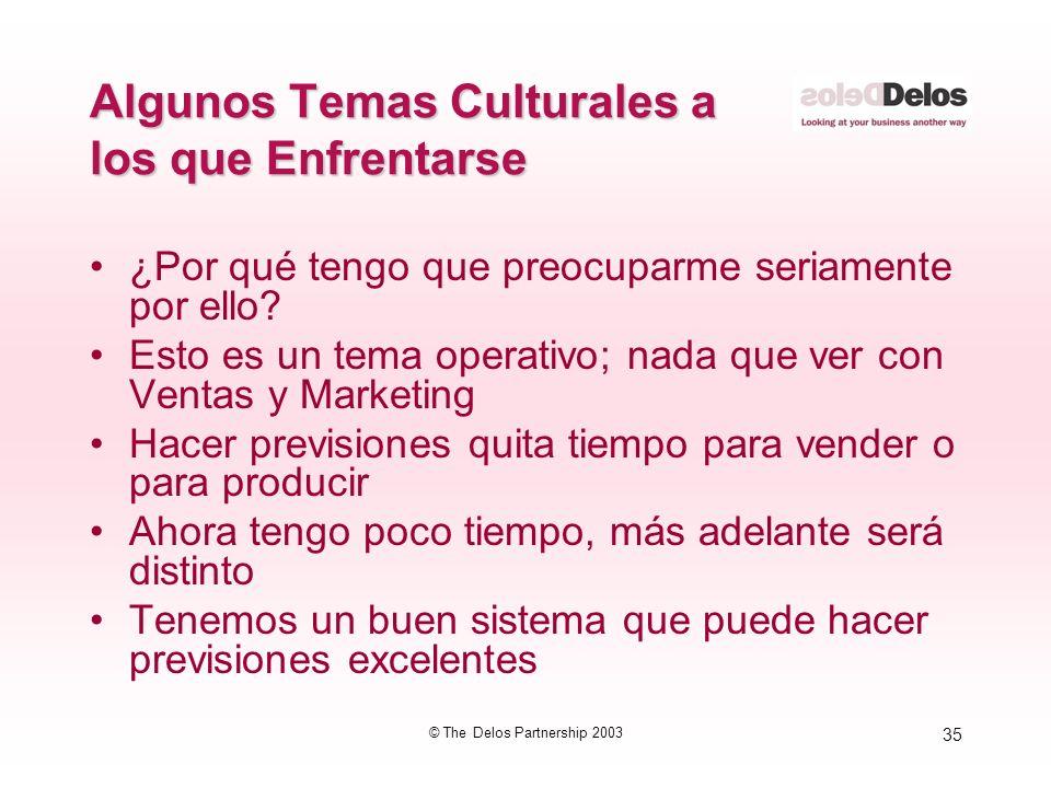 Algunos Temas Culturales a los que Enfrentarse