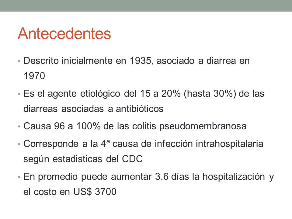 Antecedentes Descrito inicialmente en 1935, asociado a diarrea en 1970