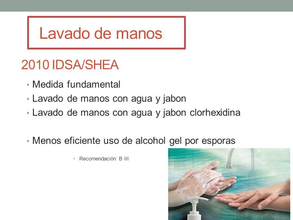 Lavado de manos 2010 IDSA/SHEA Medida fundamental