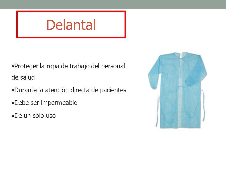 Delantal Proteger la ropa de trabajo del personal de salud