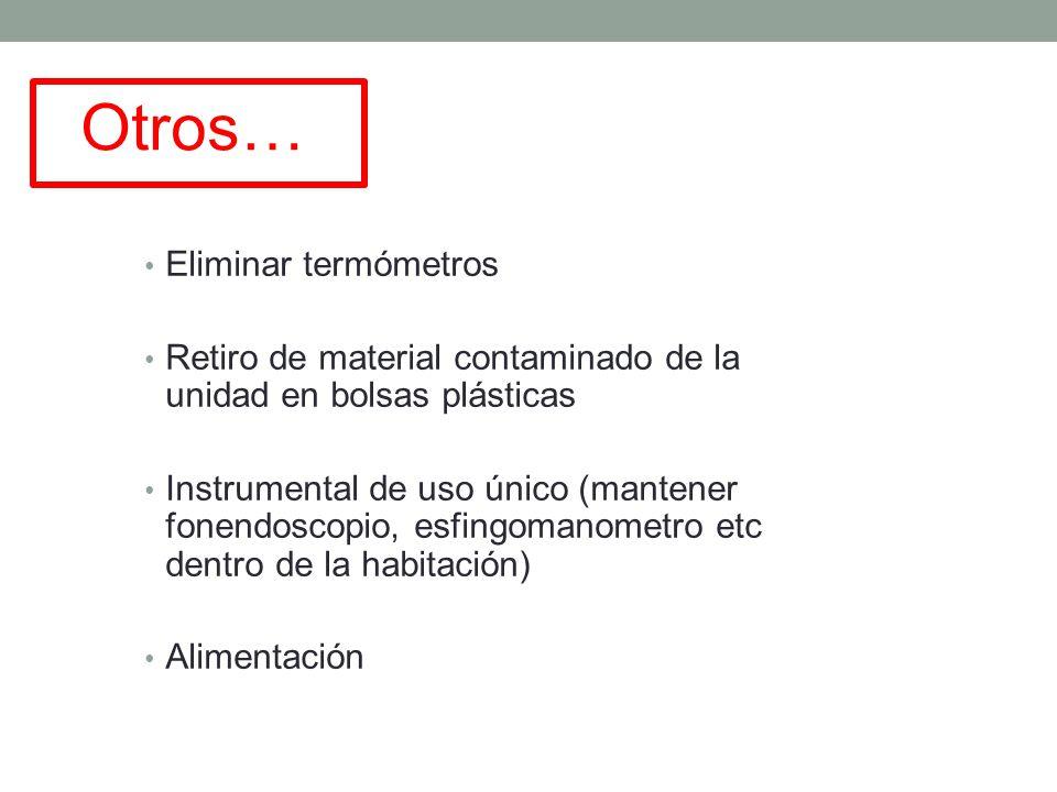 Otros… Eliminar termómetros