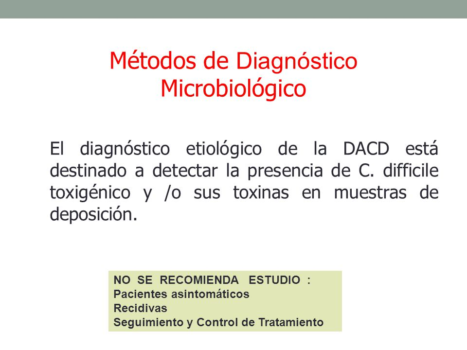 Métodos de Diagnóstico Microbiológico