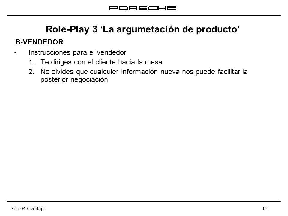 Role-Play 3 'La argumetación de producto'