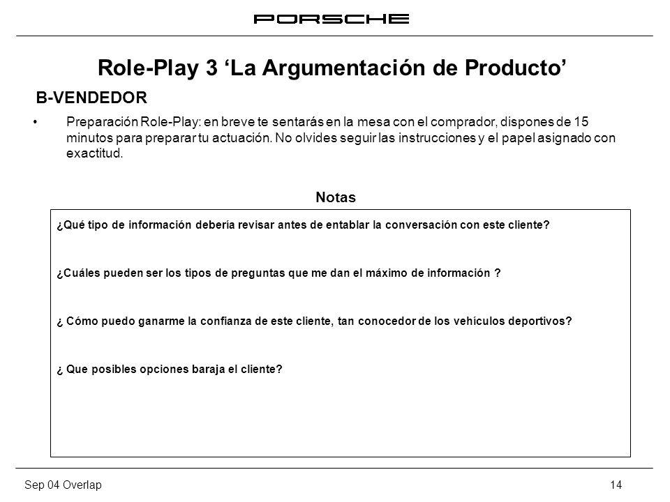 Role-Play 3 'La Argumentación de Producto'