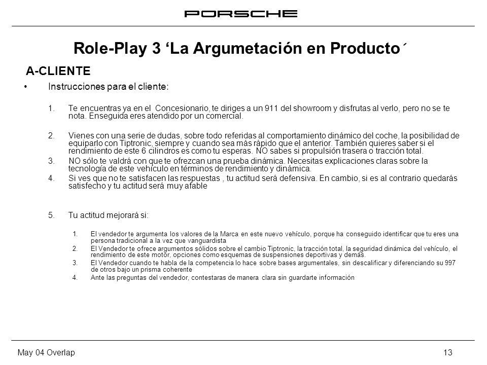 Role-Play 3 'La Argumetación en Producto´