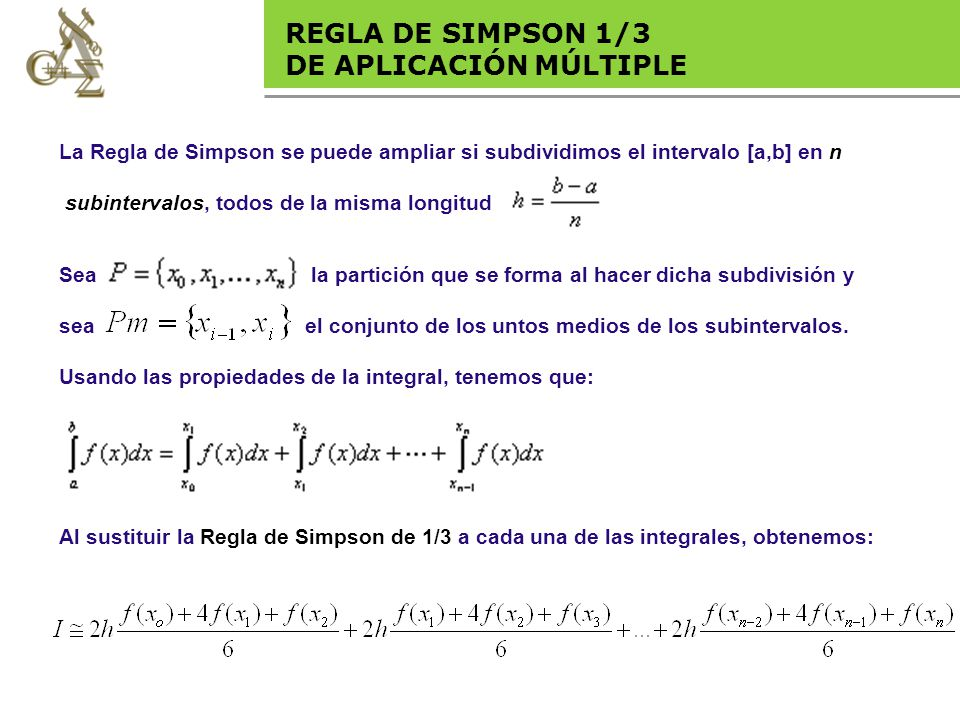 Base legal REGLA DE SIMPSON 1/3 DE APLICACIÓN MÚLTIPLE