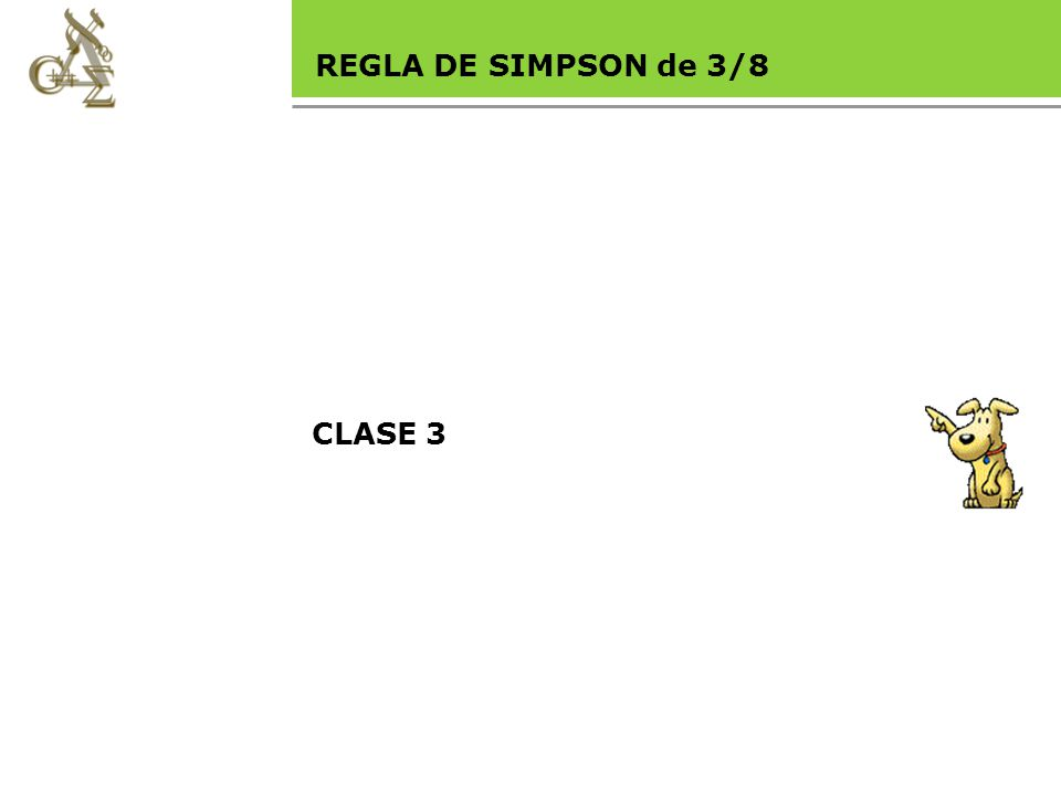Base legal REGLA DE SIMPSON de 3/8 CLASE 3