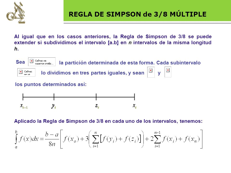 Base legal REGLA DE SIMPSON de 3/8 MÚLTIPLE