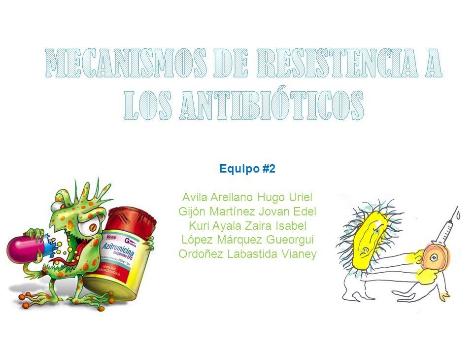 MECANISMOS DE RESISTENCIA A LOS ANTIBIÓTICOS