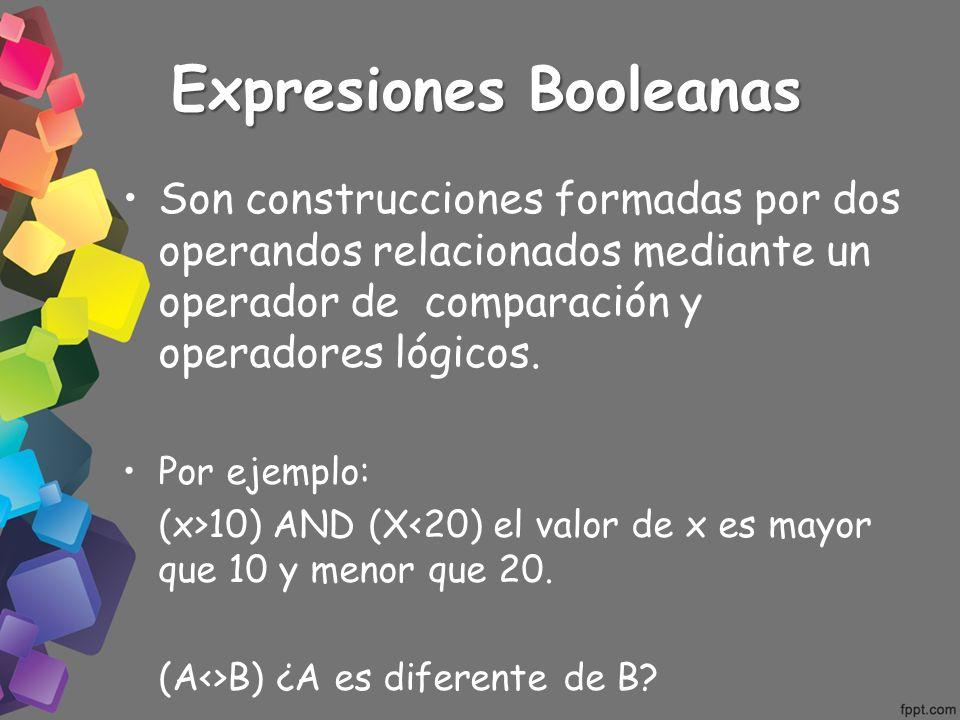 Expresiones Booleanas