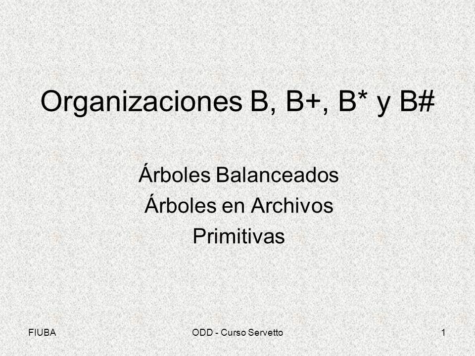 Organizaciones B, B+, B* y B#