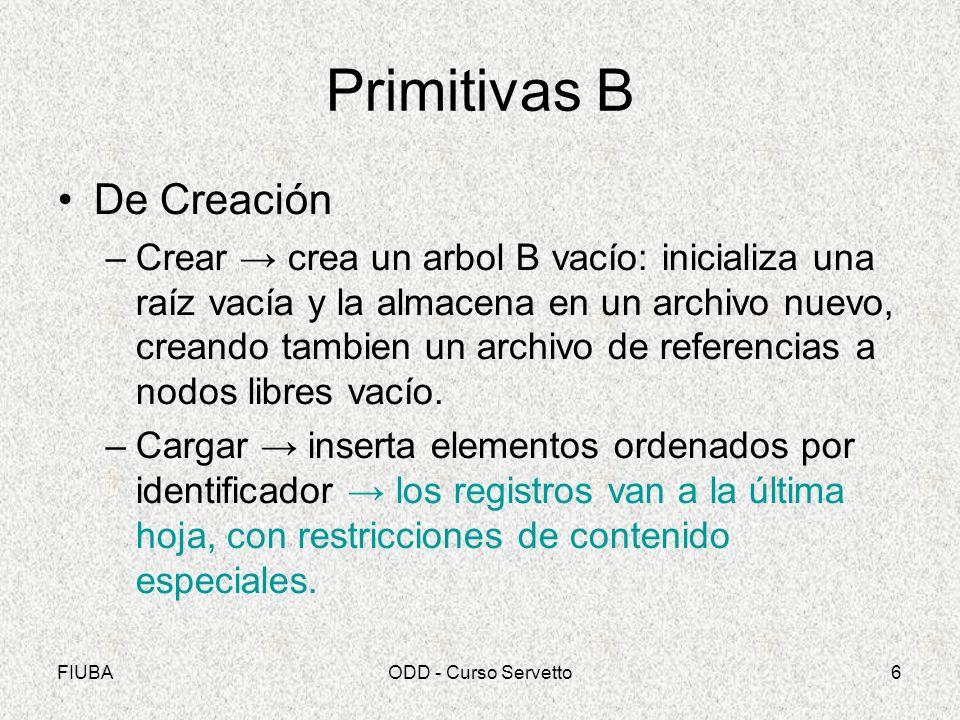 Primitivas B De Creación