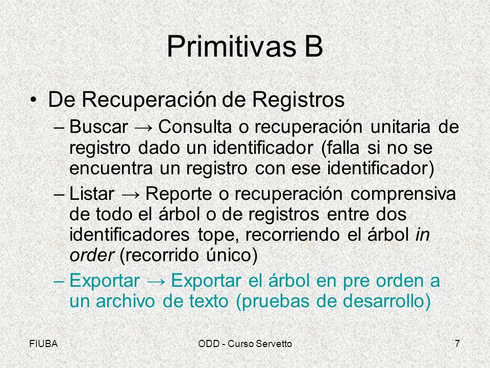 Primitivas B De Recuperación de Registros