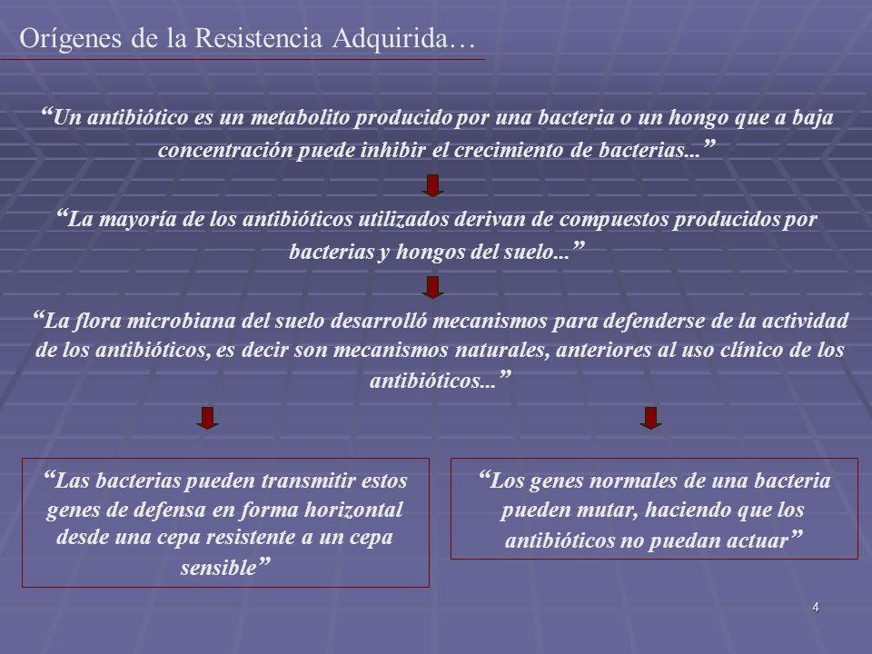 Orígenes de la Resistencia Adquirida…